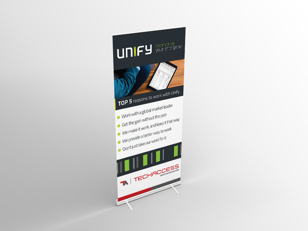 designing design branding  marketing   Rollups posters invitations unify