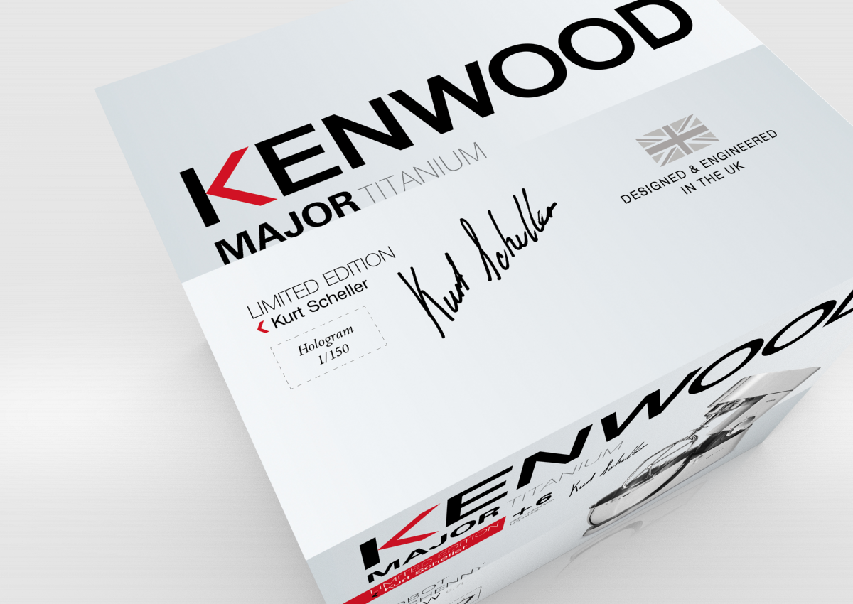 new design strategy for kenwood kitchen machines packaging is simple and elegant as kenwood style layout is based on stunning solid images and exposes
