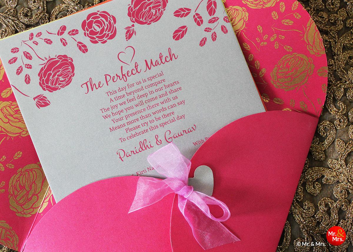 Attractive Personalised Wedding Invitation Vignette - Invitations ...
