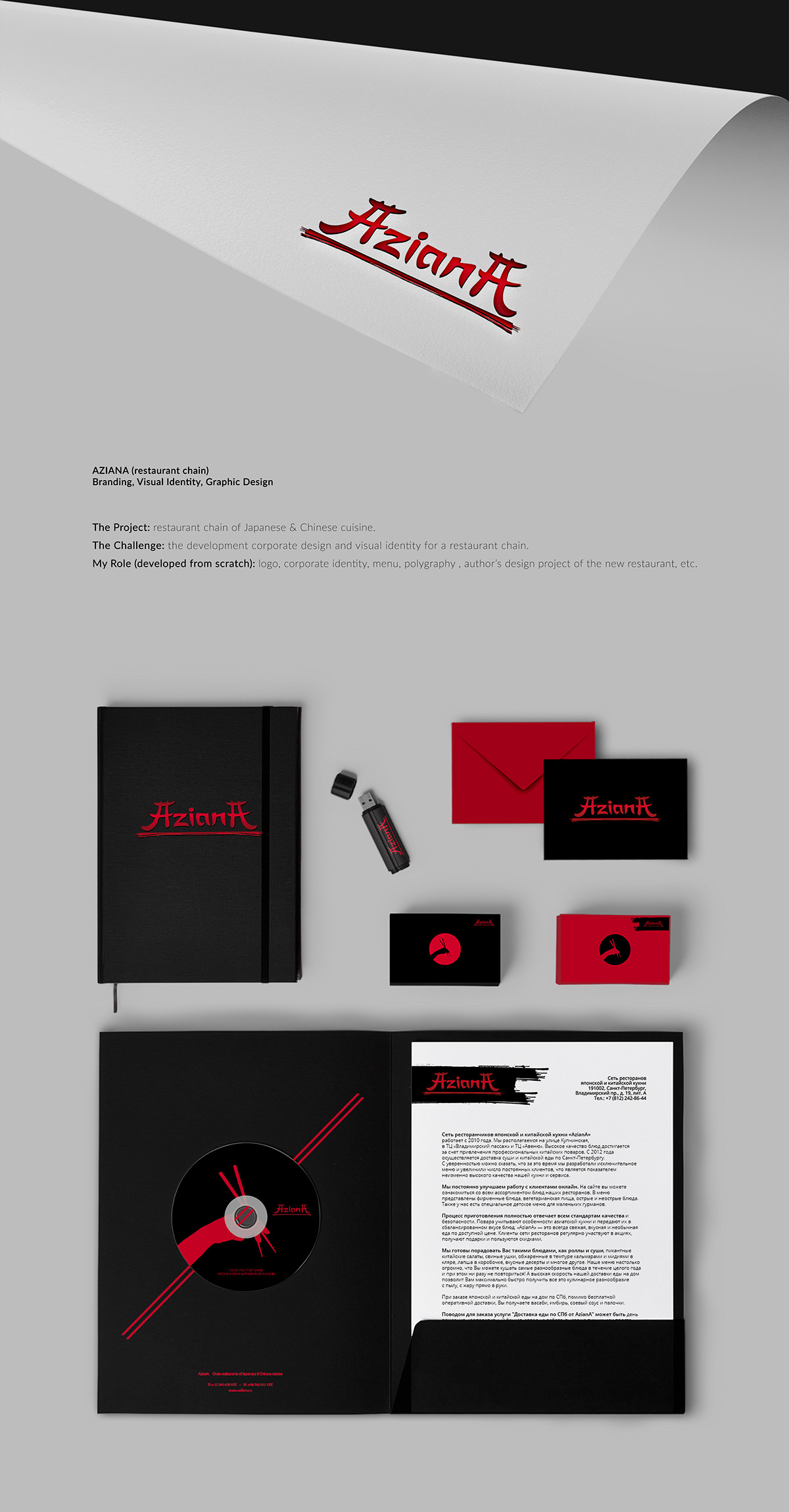 Restaurant Branding Visual Identity Graphic Design On Aiga Member Gallery