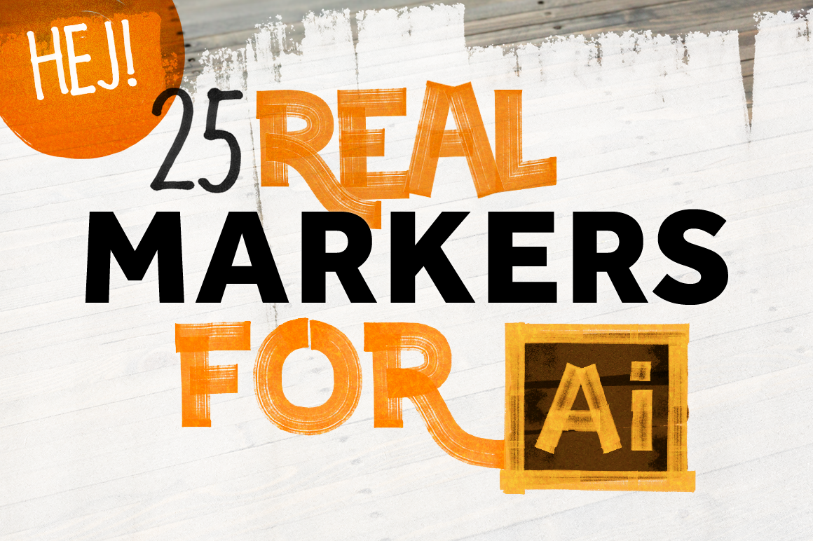 FREEBIES – 25 REAL MARKERS FOR ILLUSTRATOR on Behance