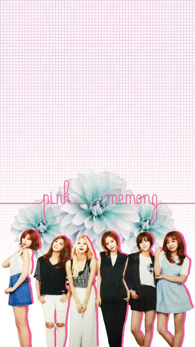 This Is A Wallpaper I Created For The Group APink Made Specifically IPhone And Should Fit Lock Screen