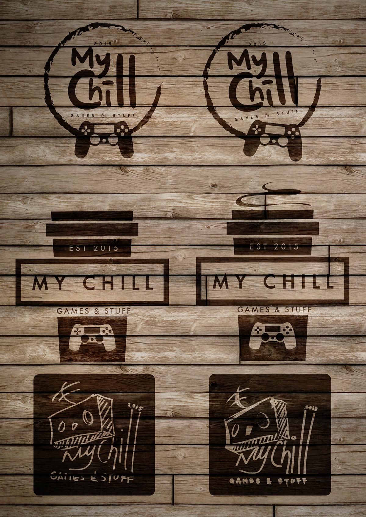 logo graphics gaming cafe study