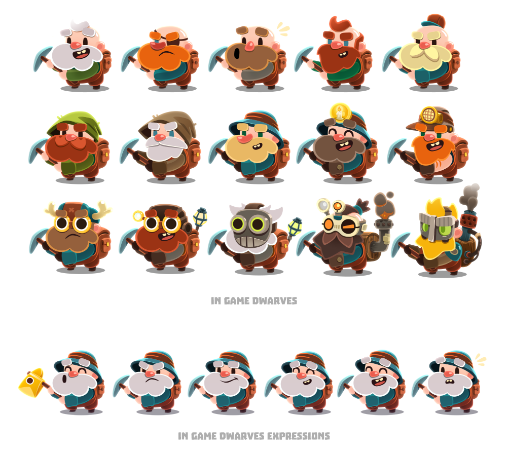Character Design For Games Pdf : Dig game on behance