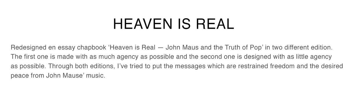 heaven is real on behance