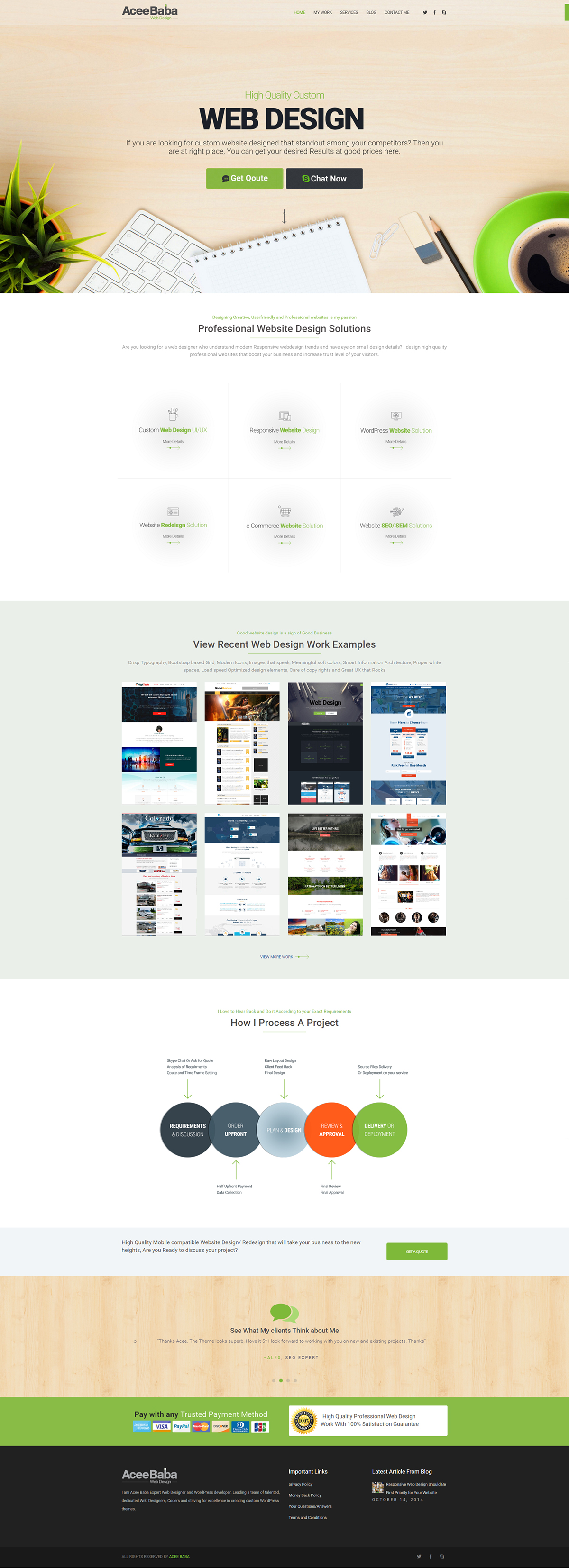 Web Design Agency Home Page on Behance