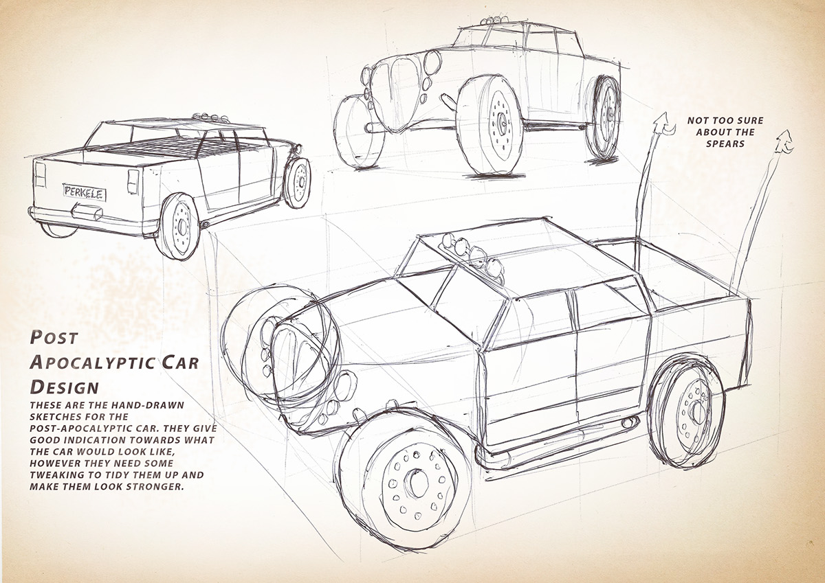 Post-Apocalyptic Car Design on Behance