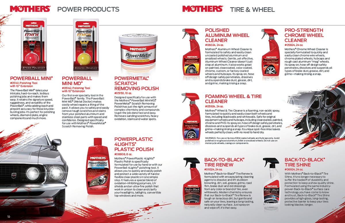 Mothers Car Care Catalog On Behance - Show car ultra shine detail spray