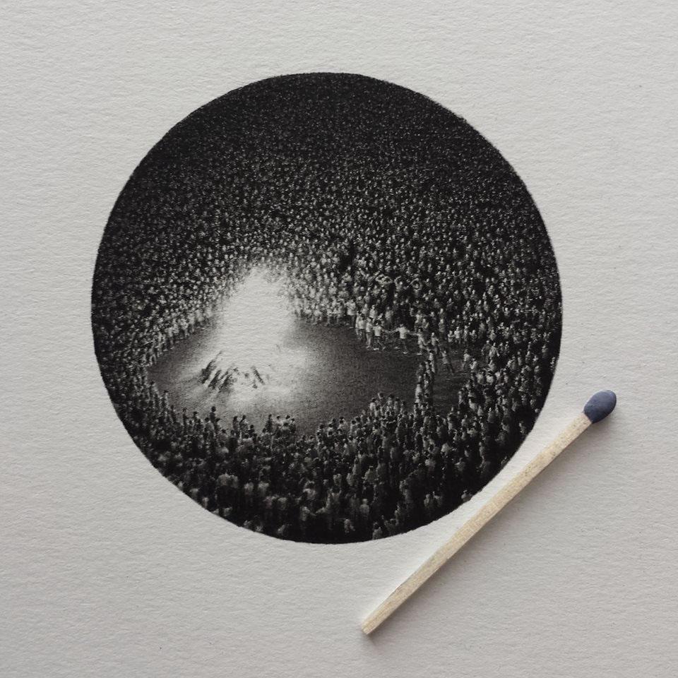 Miniature miniatures draw dibujo lapiz luz contemporarydrawing light barroco graphite grafito disegno dessin