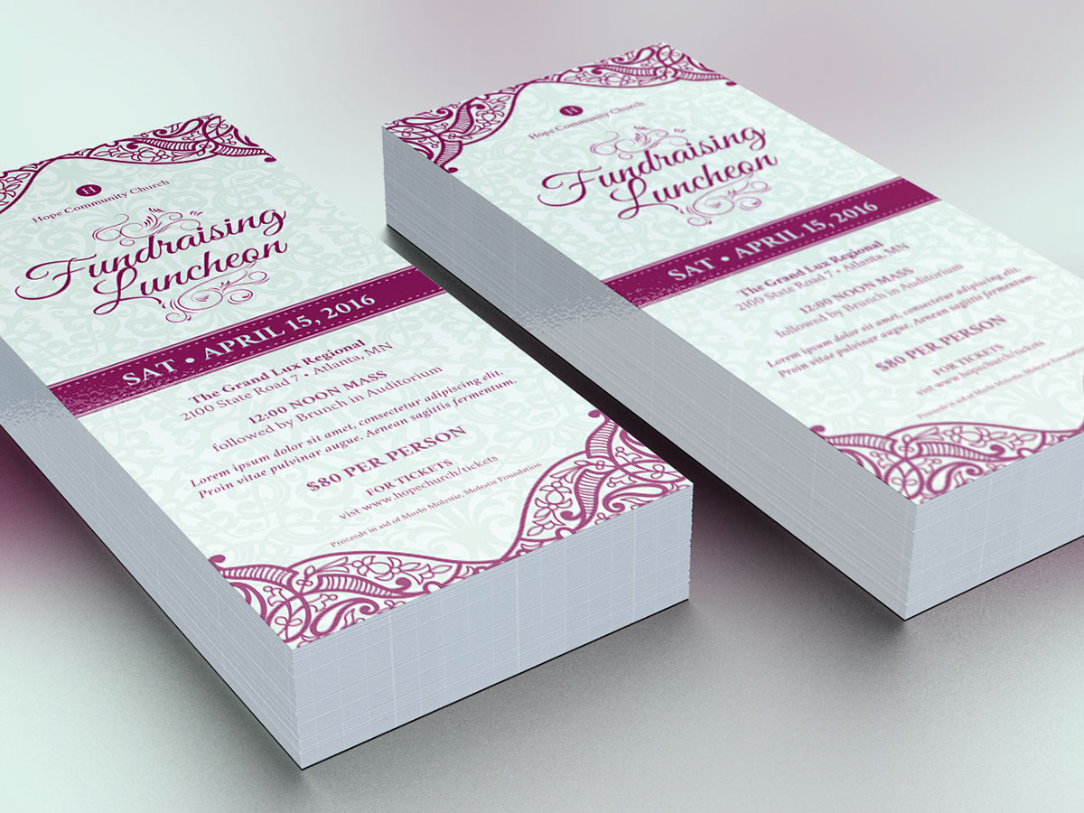 Fundraising Luncheon Flyer Template On Behance