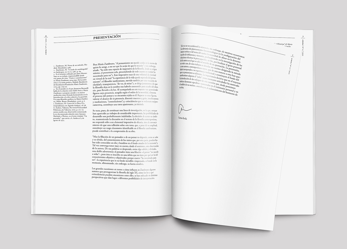 redesign philosophical research journal editorial re-design cover magazine UB