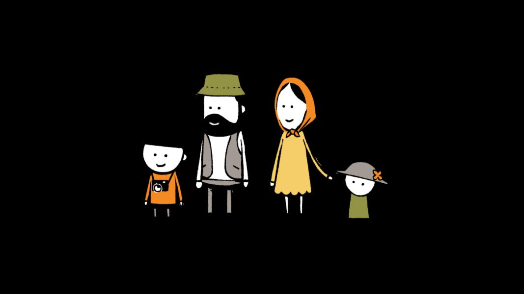 family recycling wwanimation green draw school lession happy