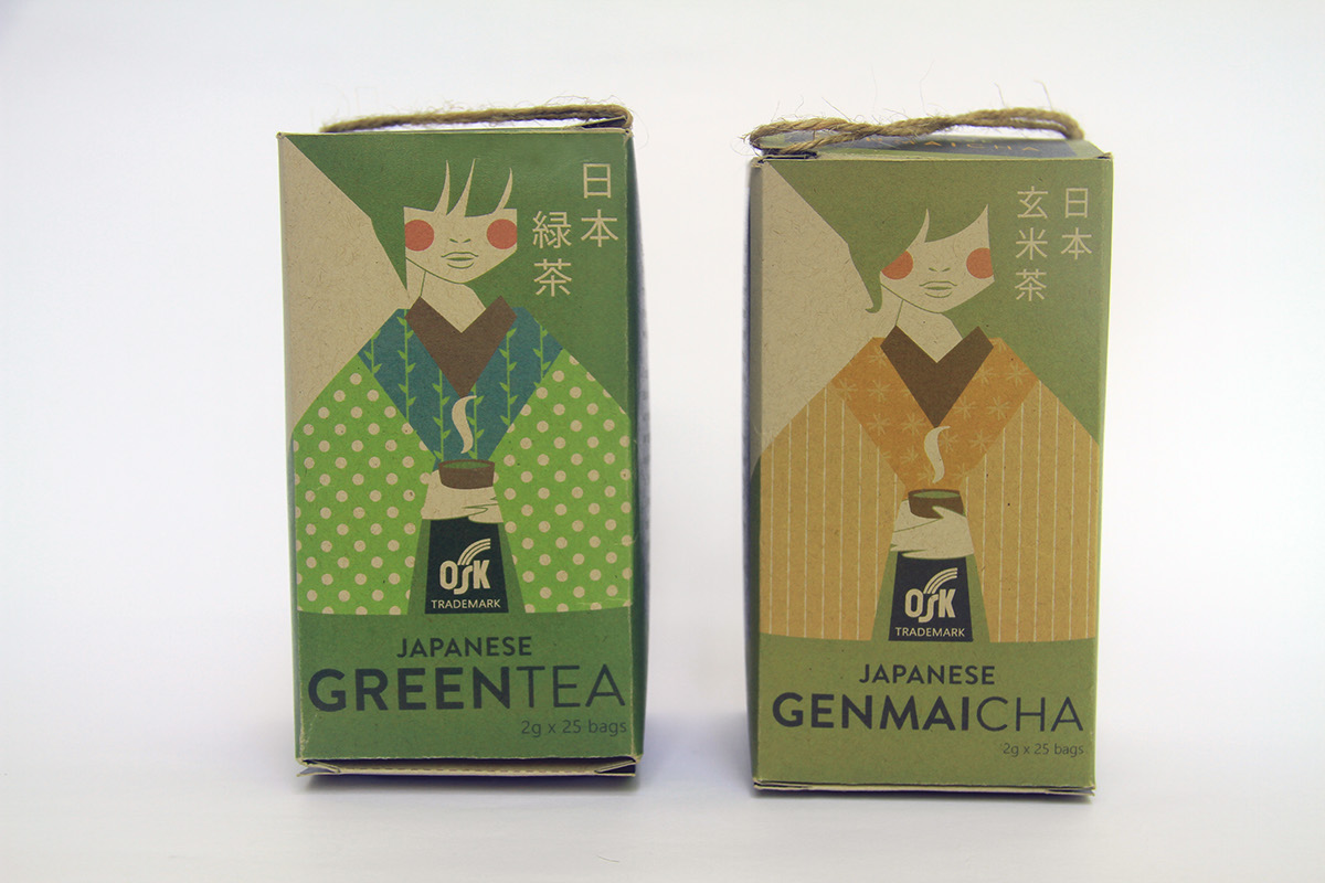 osk green tea package design on scad portfolios