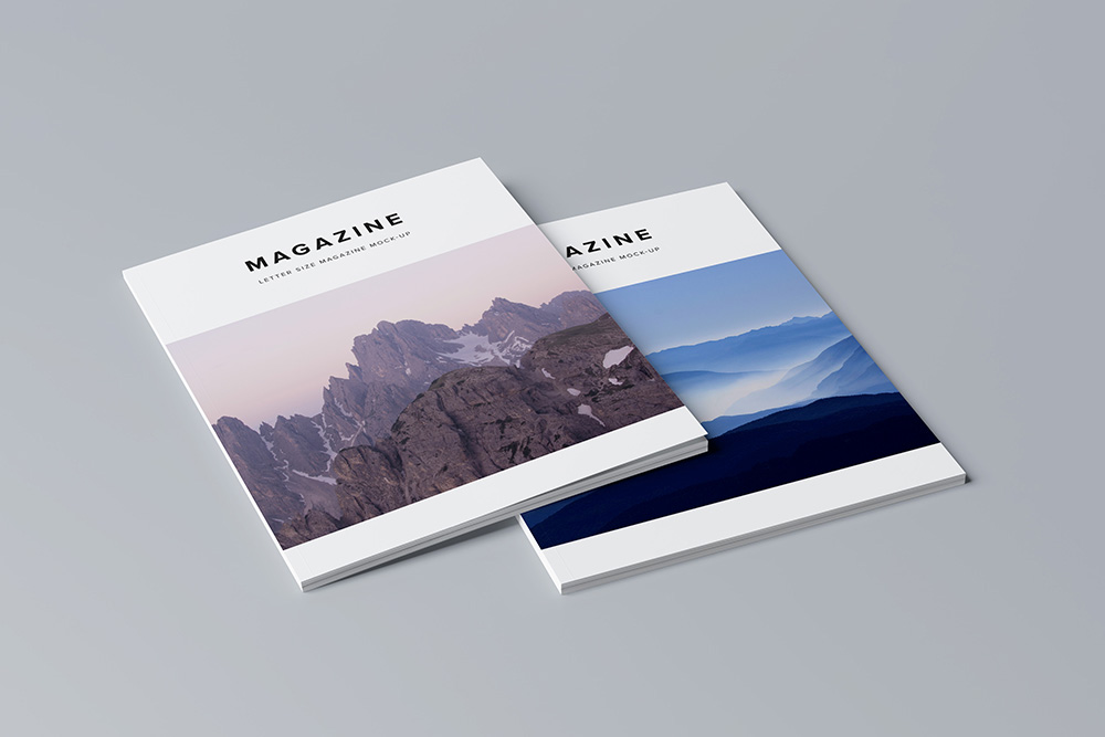 Letter Size Magazine Mock Up / 3D Visualization on Behance