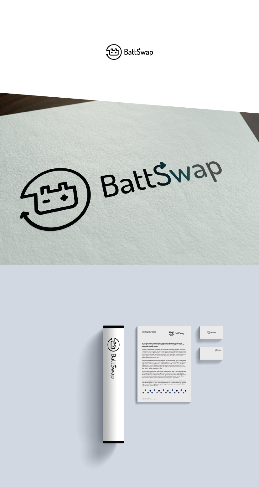 battery Swap e-car logo
