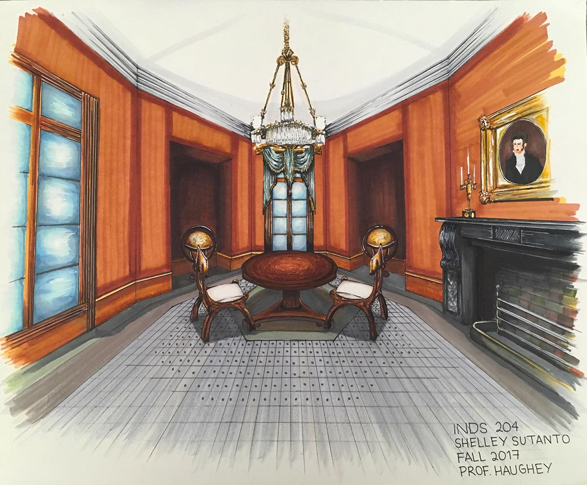 Telfair Museum, Savannah, GA. Architecture, Illustration, Interior Design