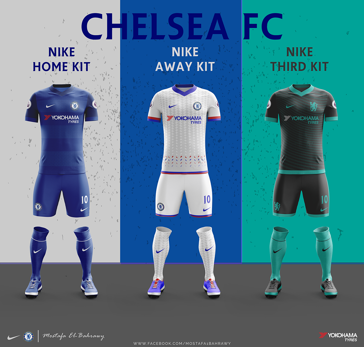 brand new d2e6a 191f6 Chelsea Nike Kits (2017-2018) on Behance