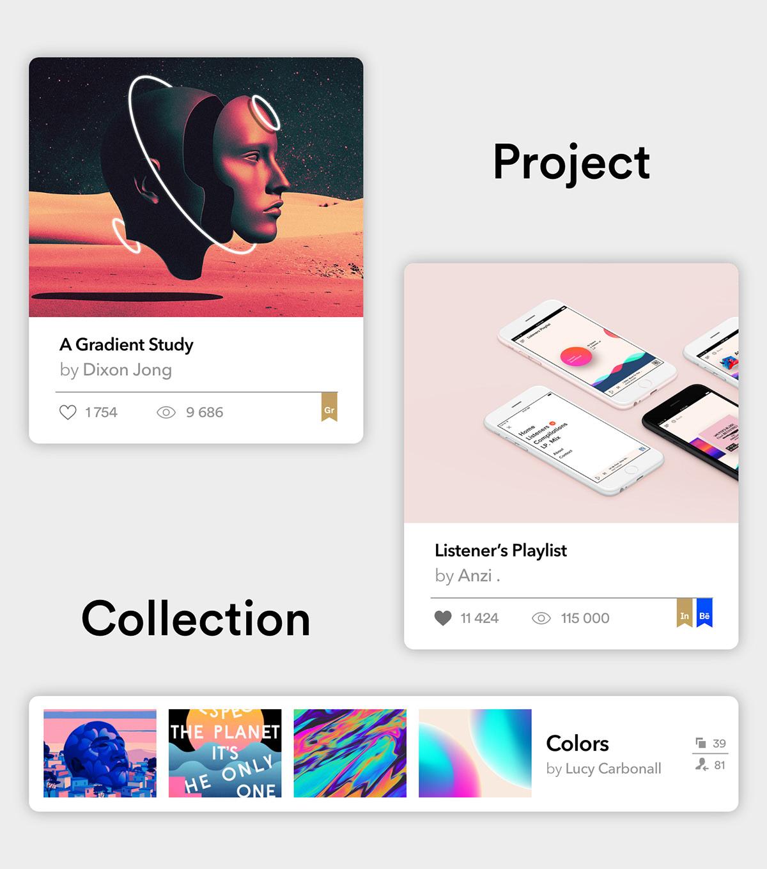 Behance redesign Webdesign material webdesigner concept Website Rebrand minimal Minimalism
