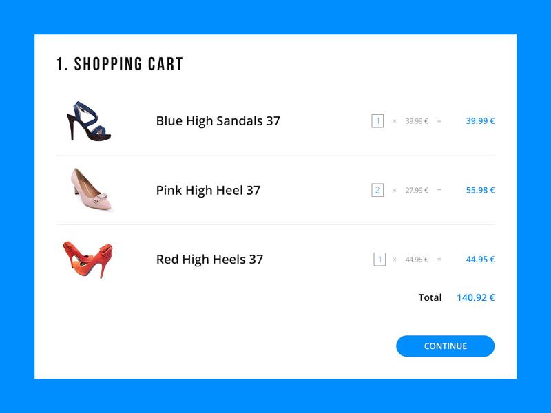 Daily UI   #058   Shopping Cart