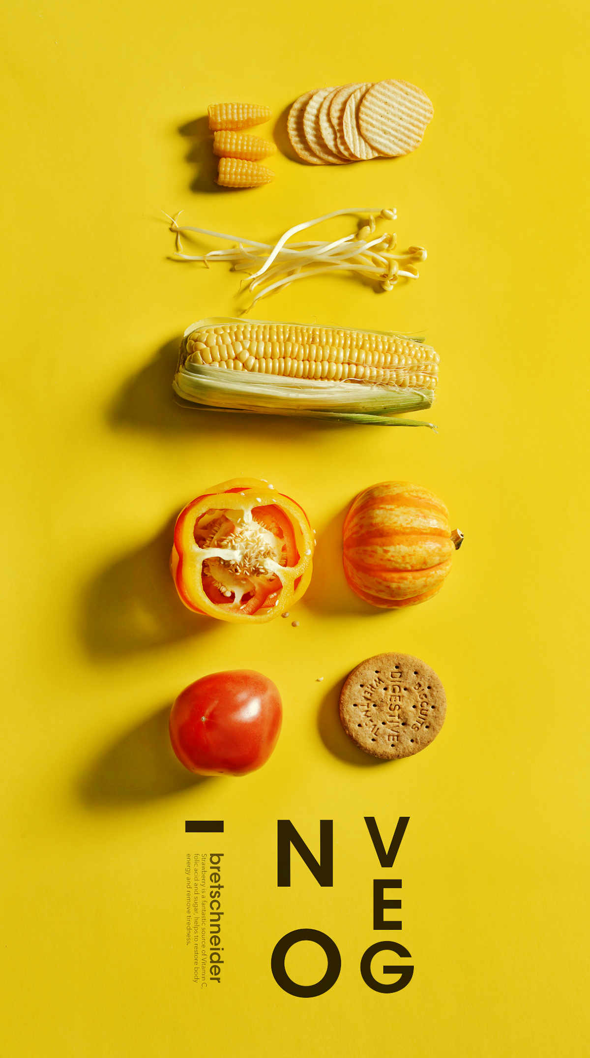 Poster design 50 excellent inspirations - Playing With Food Poster Design Inspiration How Design