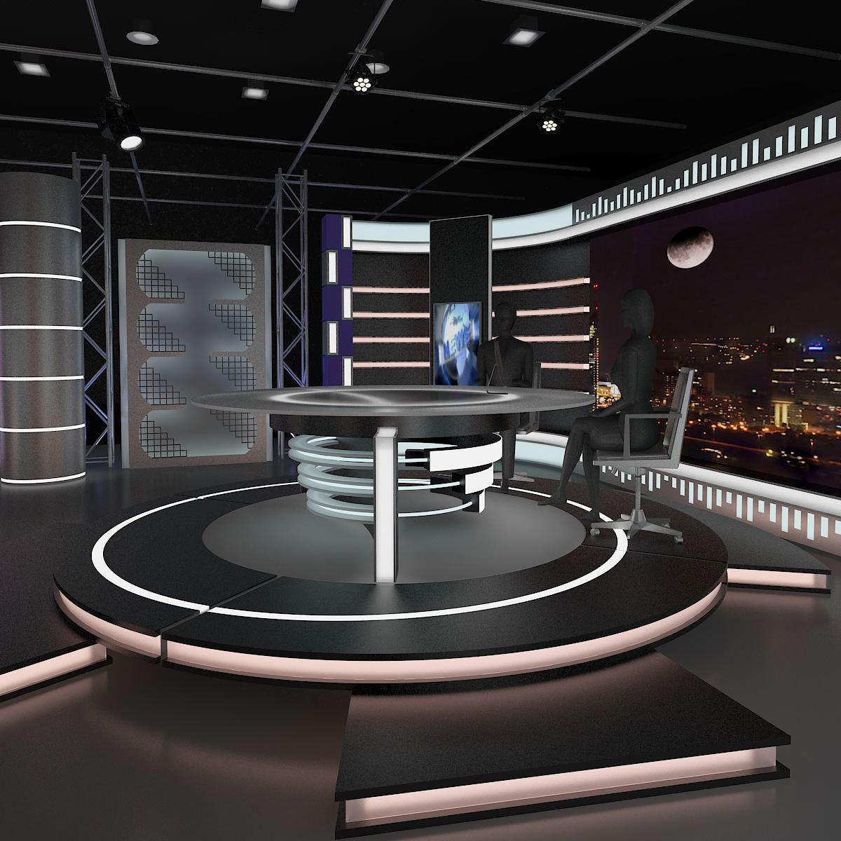 Virtual News Set 006 On Behance