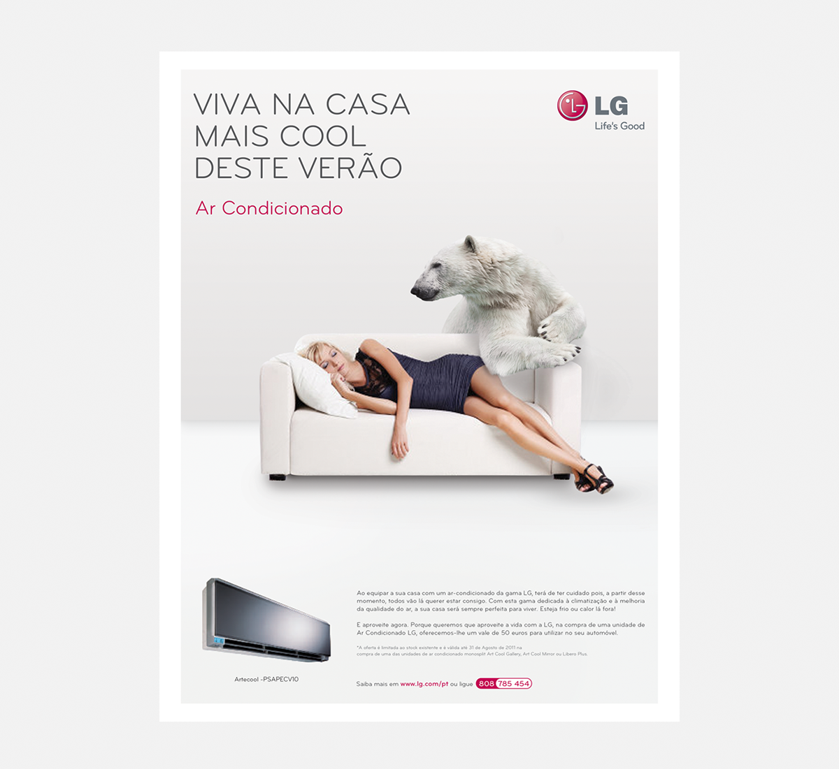 Lg Air Conditioner Advertising On Pantone Canvas Gallery