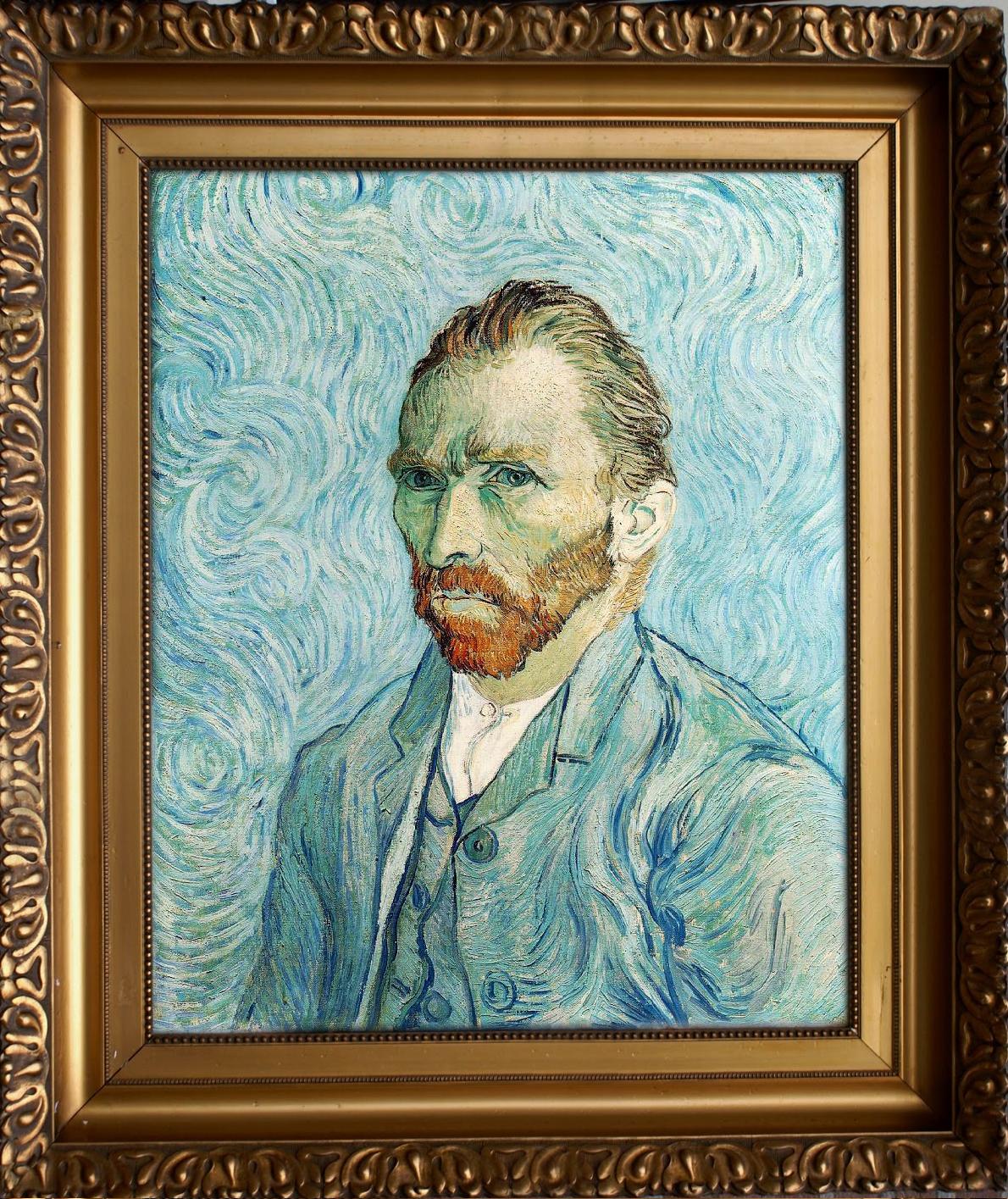 tadao cern tadaocern art Mimic copy real portrait famopus artist vincent van gogh funny  fun humor