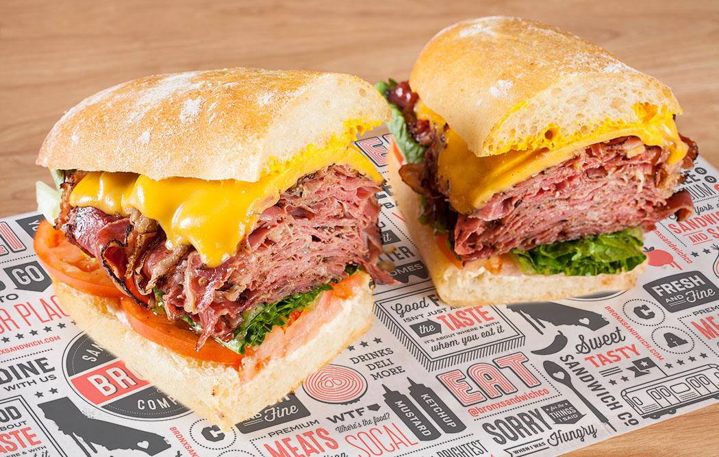 BRONX Sandwich Company, Deli, Packaging Design, Restaurant Branding, Anaheim, LA, CA