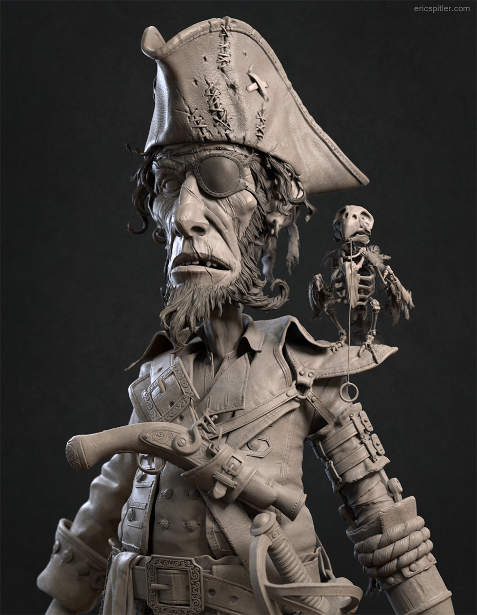 Pirate Hipoly Sculpt on Behance