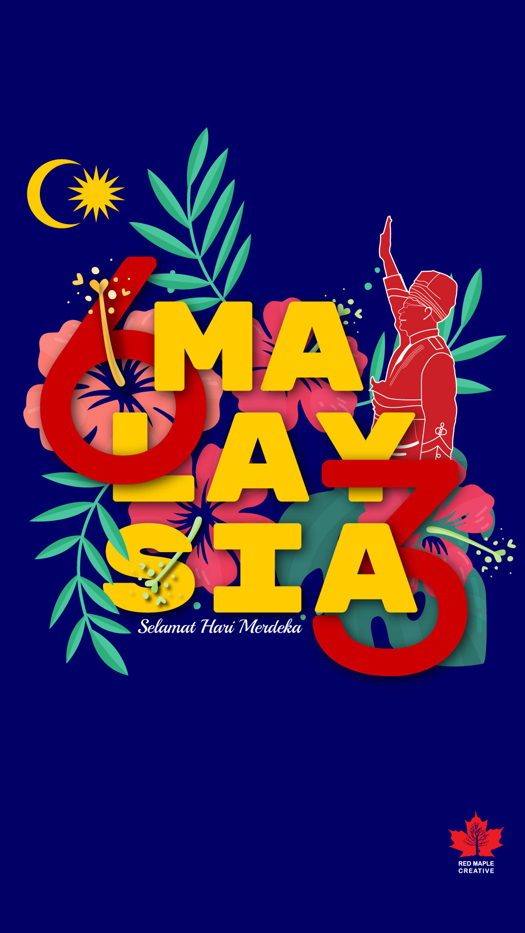 creative design malaysia merdeka poster