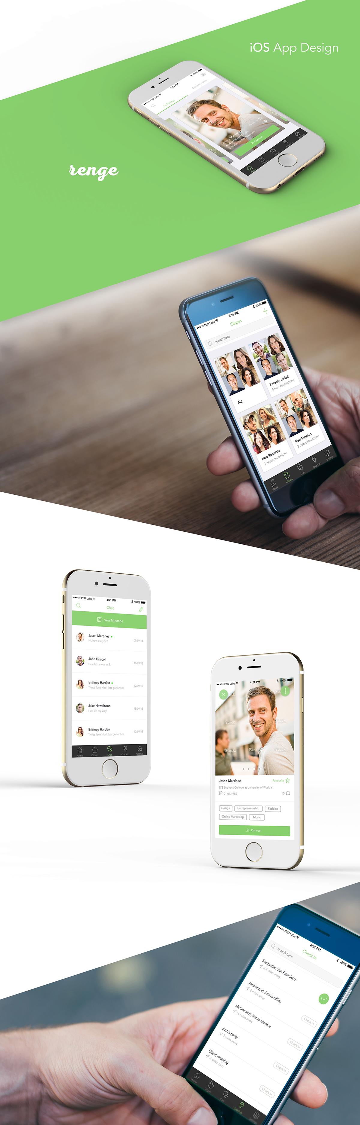 App design for a Tinder like app on Behance