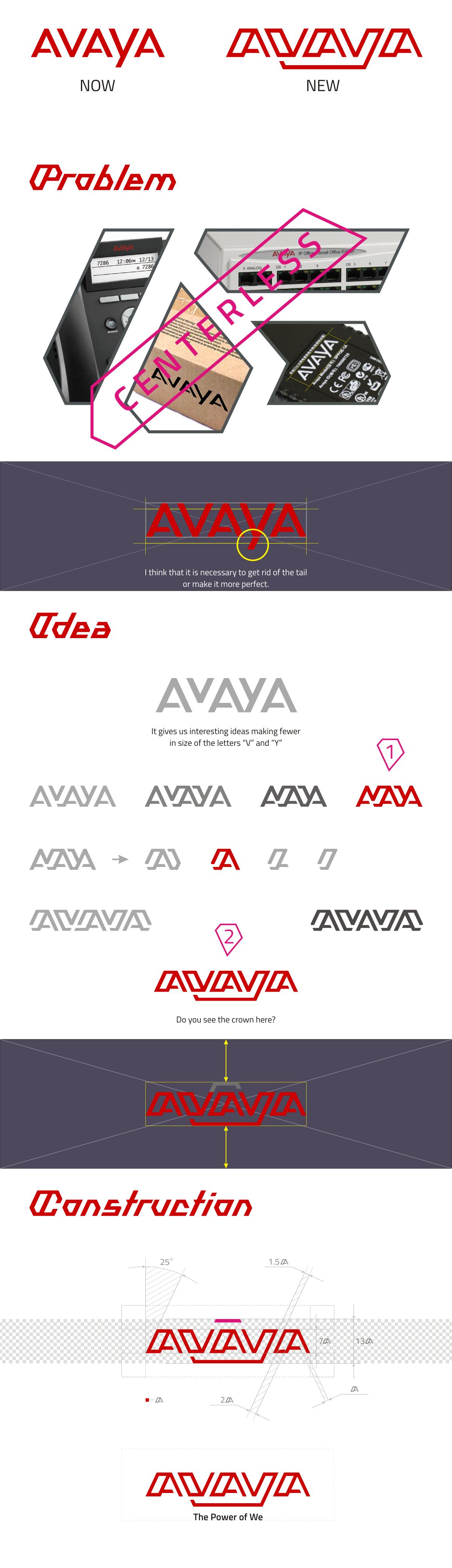 avaya logo redesign for fun