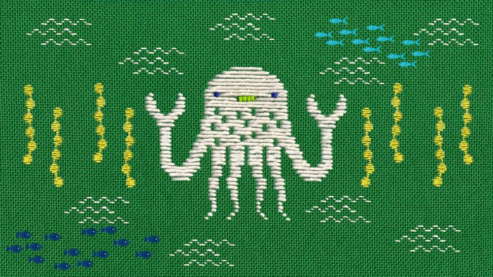 TMBG,hine mizushima,music video,animation ,Embroidery,craft,art,handmade,Lake Monsters,They Might Giants