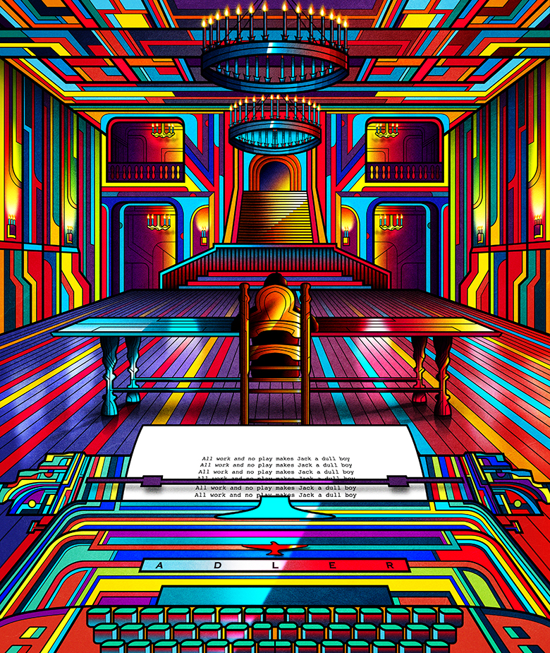 illusion,poster,Movies,photoshop,Collection,inspiration,Kubrick,one point,Perspective