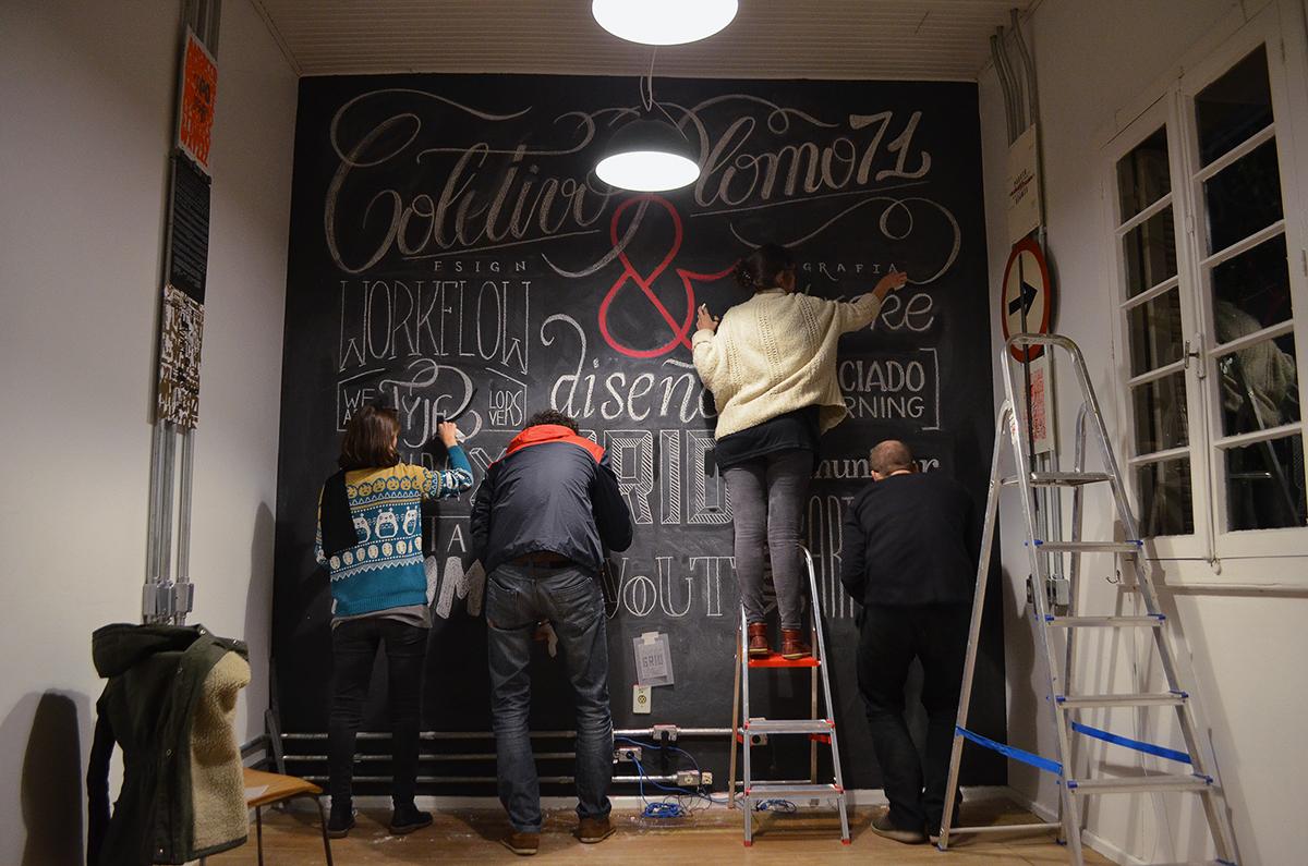 caligrafia tipografia handmade Chalkboard time-lapse seltonmusic type lovers  ampersand lettering plomo71 coletivo GIZ tiza pizarrón