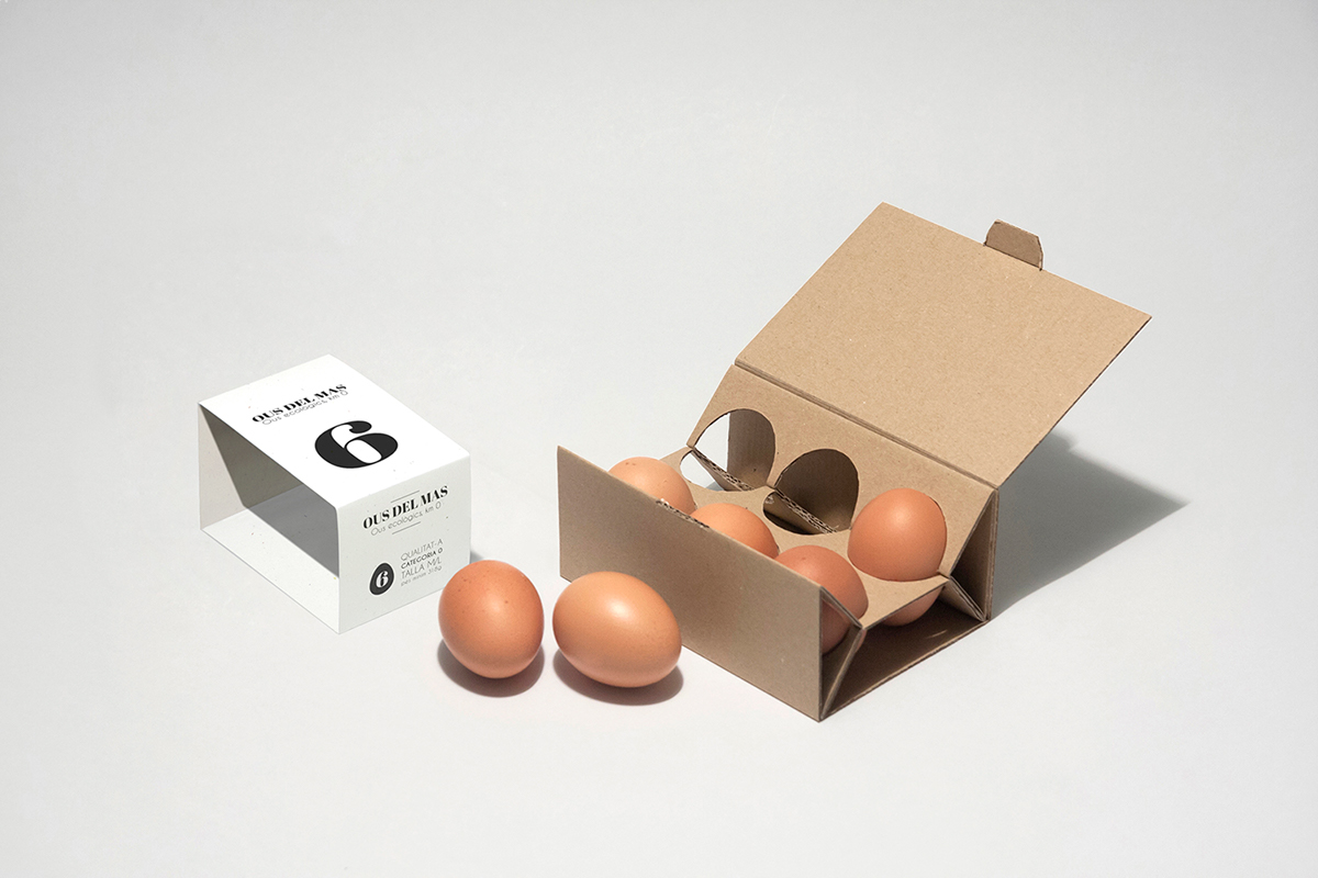 eggs minimal recyclable ecological Food  box pamboli