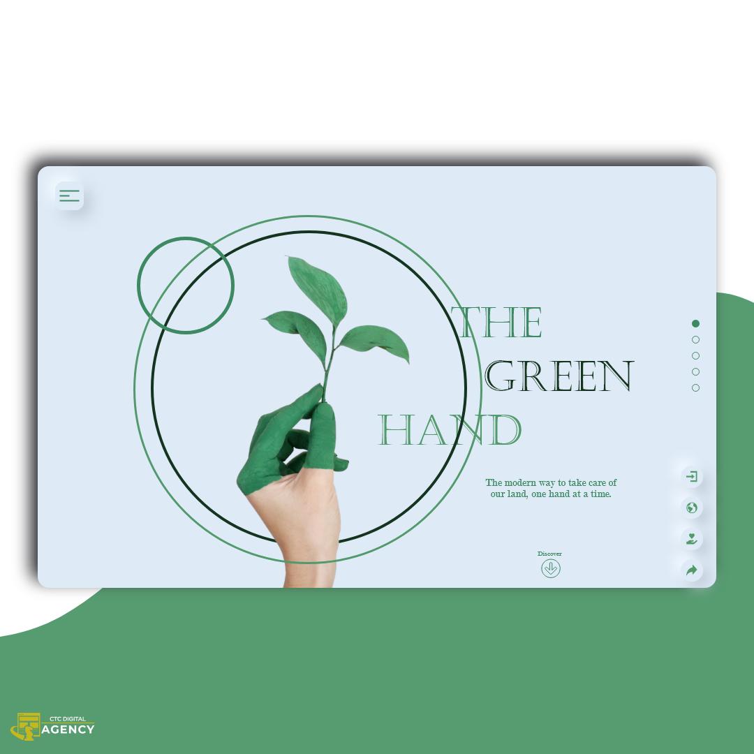 green landingpage neumorphism Sustainable Webdesign