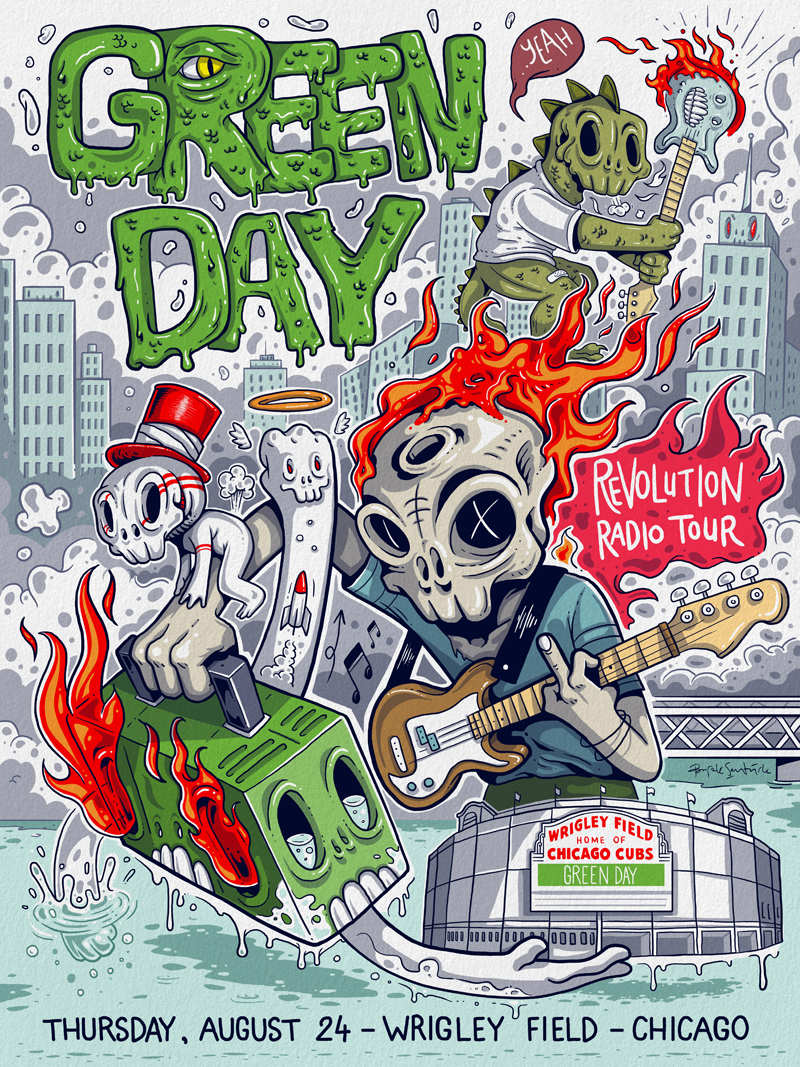 green day usa tour posters for warner music on behance
