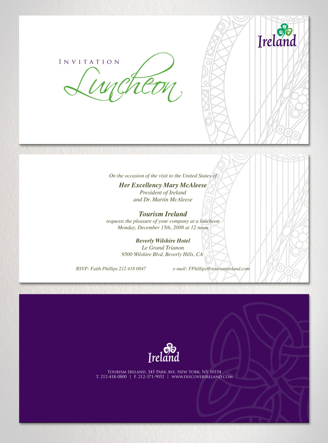 Tengotwo Creative Solutions Corporate lunch printed Invitation
