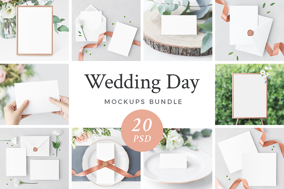 Captivating In Wedding Day Mockups Bundle Youu0027ll Find That You Need: Invitation Cards,  Menu, ...