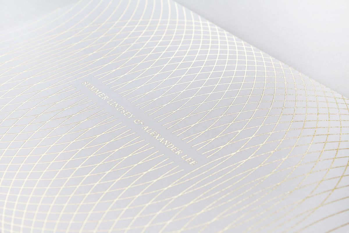 engraving foilstamp Invitation metallic geometric
