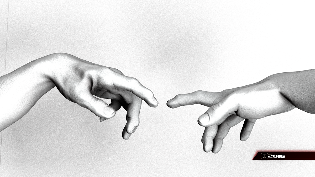 Creation Of Adam Hands Drawing