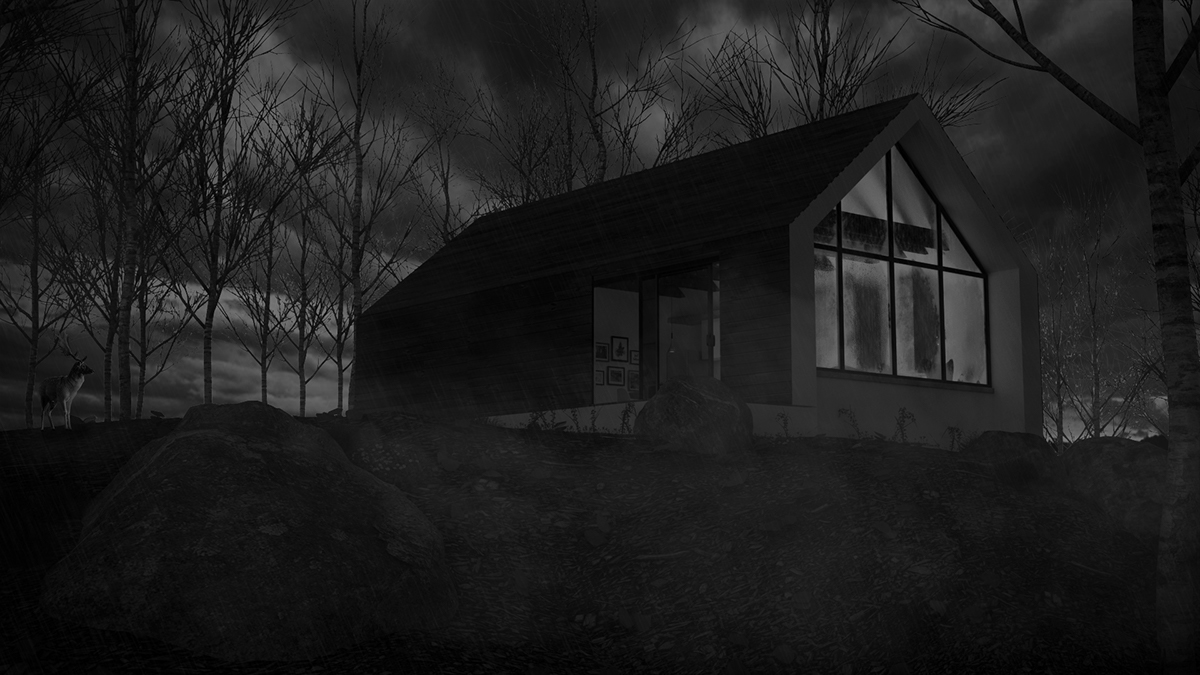 vray photoshop architectural viaualiser 3D Render blackhouse exterior enviroment 3dsmax judith gonzalez