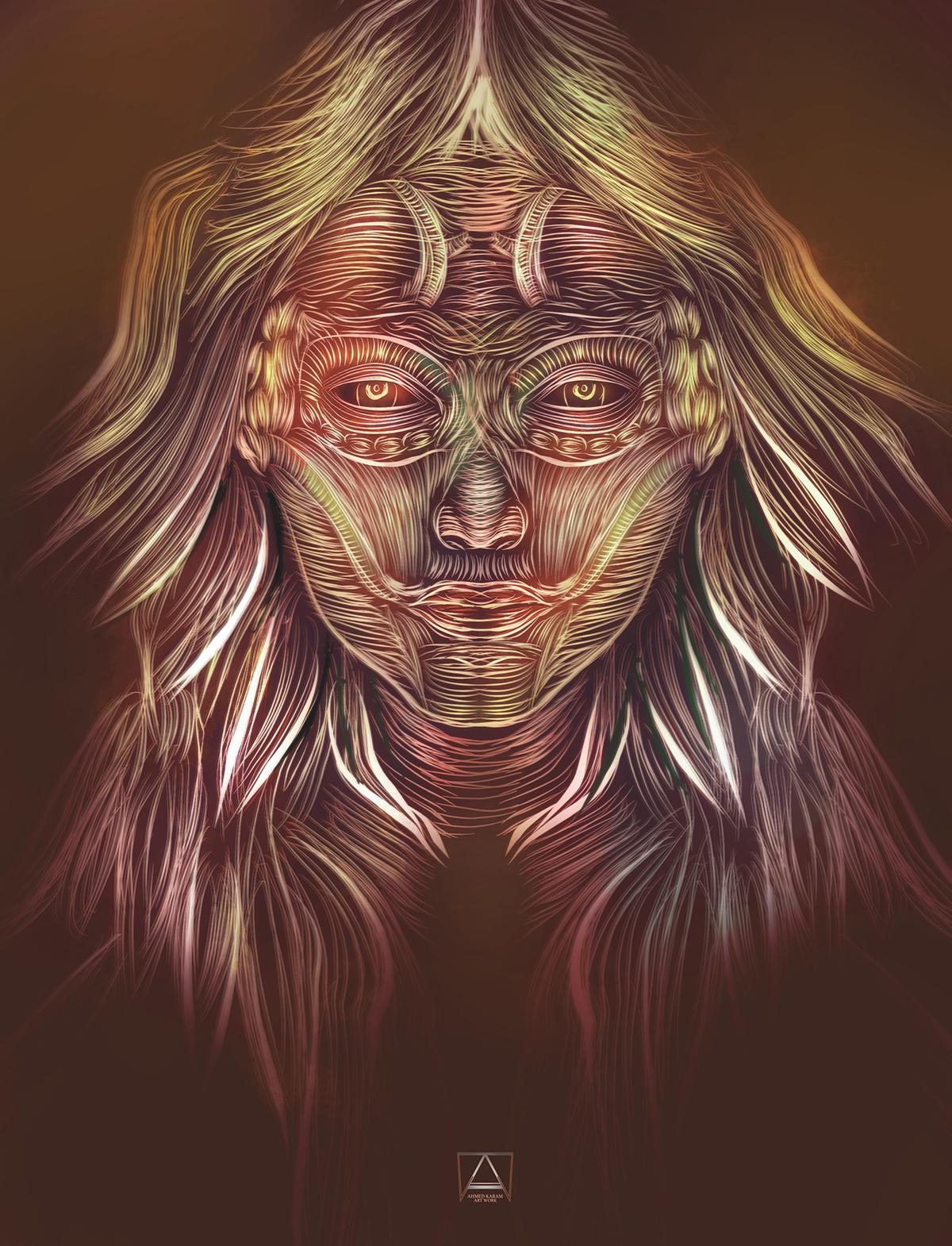 journeys art Collective  dark episodes trip1 digitalart SUREAL lowpoly leviitation portrait girl gothic abstract egypt