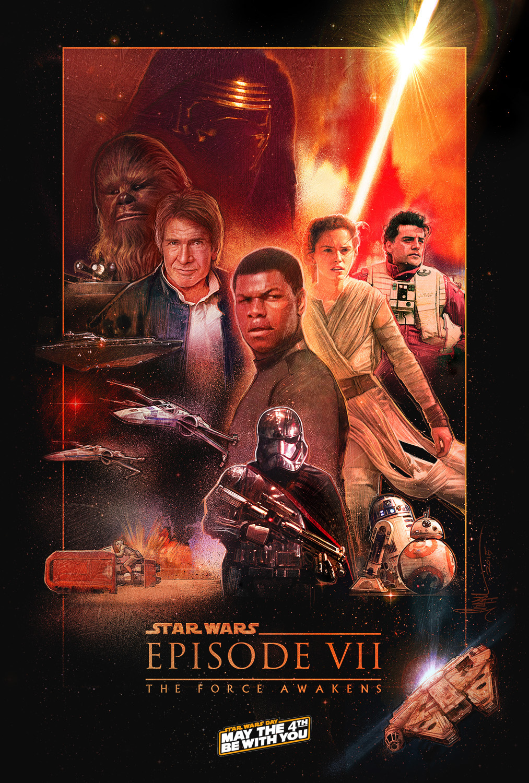 star wars force awakens concept poster on behance
