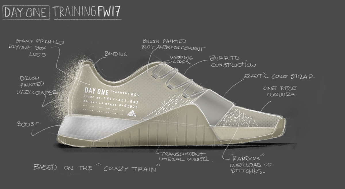 free shipping 2a307 301f6 ADIDAS DAY ONE  CRAZY TRAIN on Behance