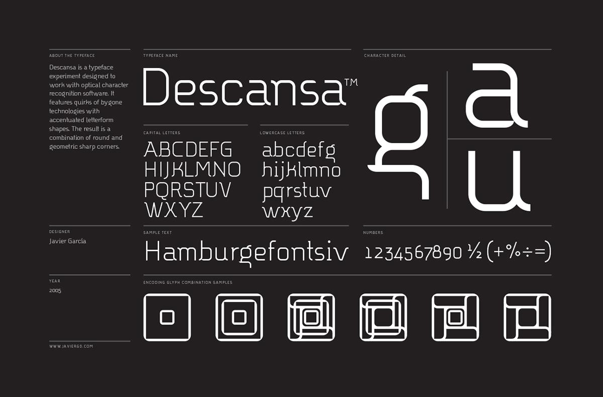 Typeface font type design Type Specimen geometric geometry swiss type International typographic style