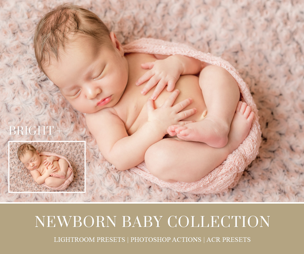 NEWBORN LIGHTROOM PRESETS, BRUSHES & PHOTOSHOP ACTIONS on
