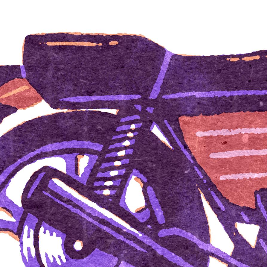 analoge motorcycle Retro screenprint texture vintage