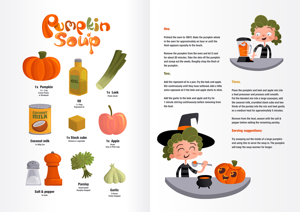 Illustrated Recipes On Behance